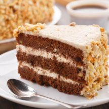 Sweet delicious dessert - moco cake with almond